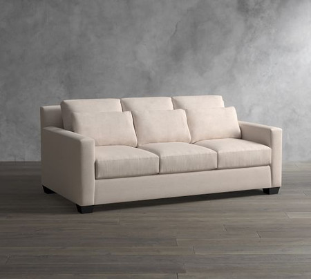 York Square Arm Deep Seat Upholstered Sofa